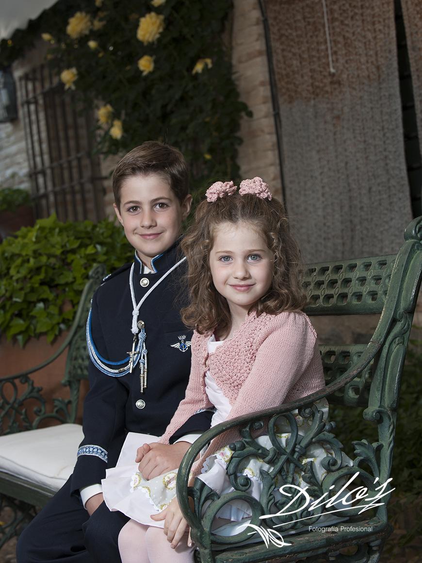 Fotografías de comunión en Palacio de Galiana