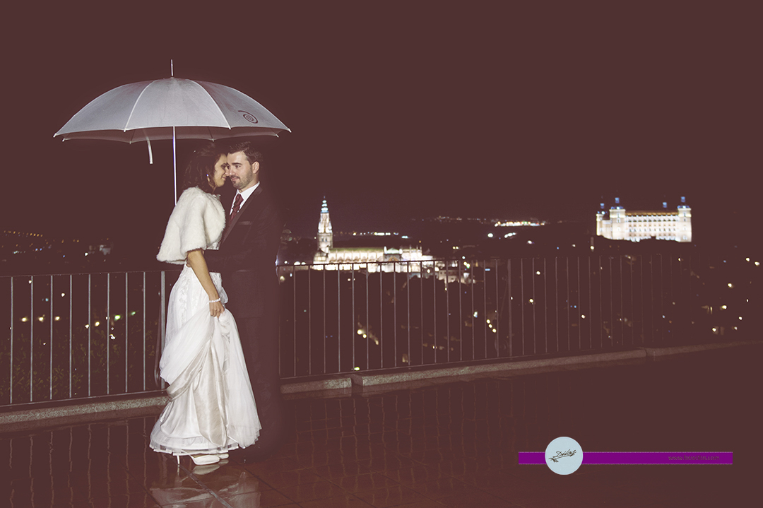 Novia mojada, novia afortunada II Boda con lluvia