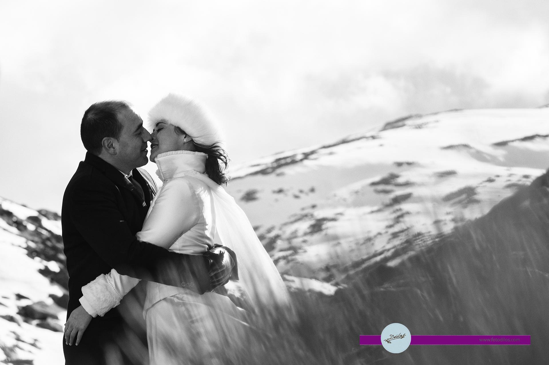 Postboda en la nieve Oscar y Miriam